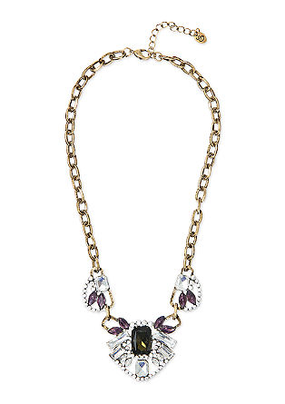 Necklace with facet-cut stones from s.Oliver