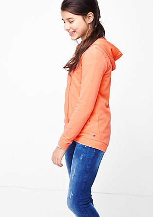 Neon-coloured sweatshirt jacket  from s.Oliver