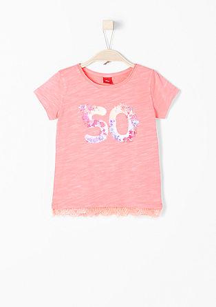 Neon-Shirt mit Glitzerprint