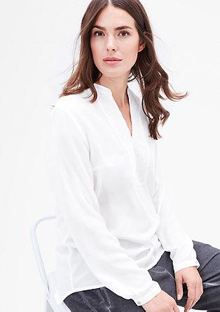 Nežna bluza v slogu tunike s tkano čipko