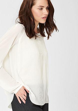 Nežna plisirana bluza