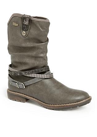 Nizki škornji iz materiala Tex s paščkom