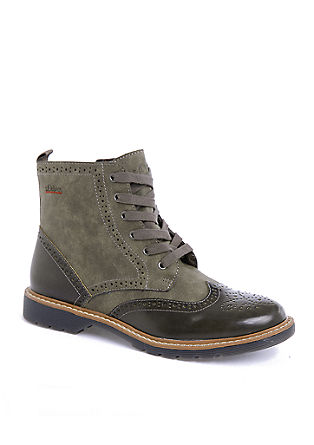 Nizki škornji v stilu brogue