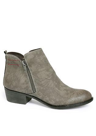 Nizki škornji z okrasnimi zadrgami