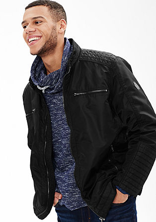 Nylon jacket with biker details from s.Oliver