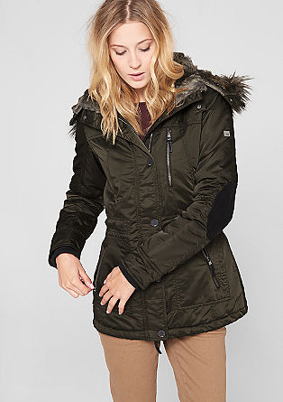 Nylon parka with fake fur from s.Oliver