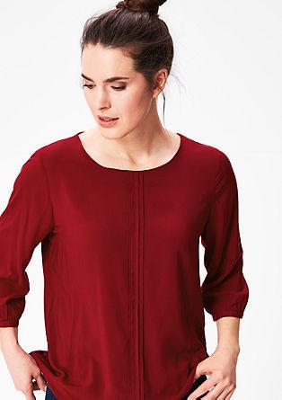 O-Shape-Bluse mit Biesen
