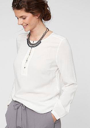 O-Shape-Bluse mit Metallknöpfen