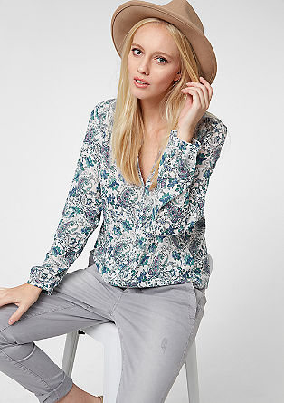 O-Shape-Bluse mit Muster