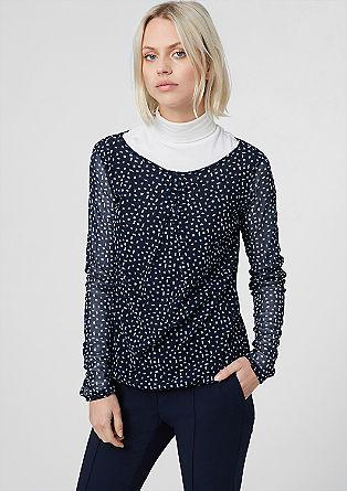 O-Shape-Shirt aus Mesh