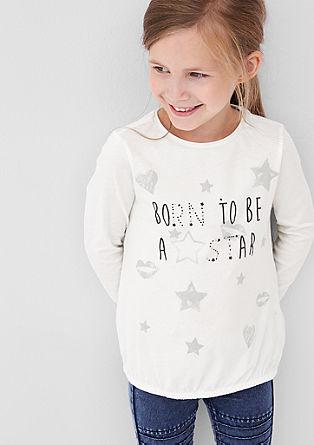 O-Shape-Shirt mit Glitzersteinen