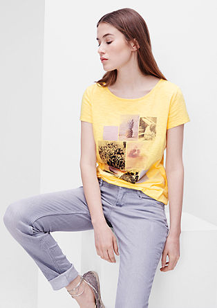 O-Shape-Shirt mit Print-Collage