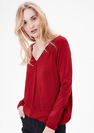 O-Shape-Shirt mit V-Neck
