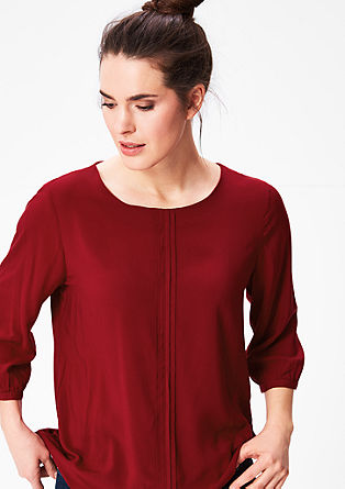O-shaped blouse with pintucks from s.Oliver