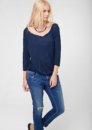 O-shaped top with 3/4-length sleeves from s.Oliver