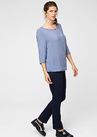 O-shaped viscose blouse from s.Oliver