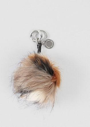 Obesek za ključe iz umetnega krzna