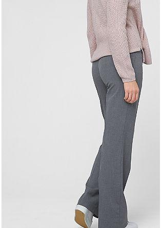 Običajna velikost: hlače iz blaga s tkano strukturo