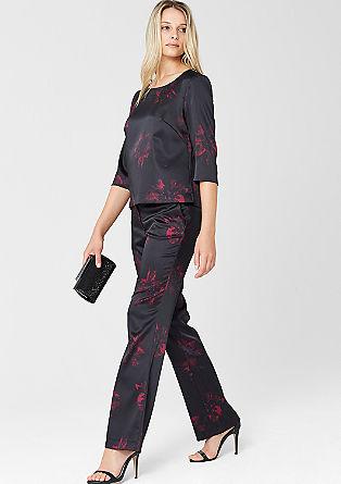 Običajna velikost: satenaste hlače v azijskem slogu