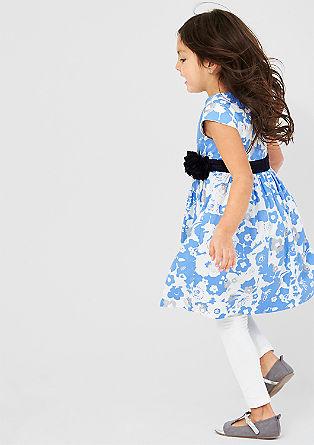 Obleka, potiskana s cvetličnim vzorcem