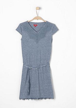 Obleka iz džersija s čipko