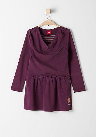 Obleka iz džersija v večslojnem videzu