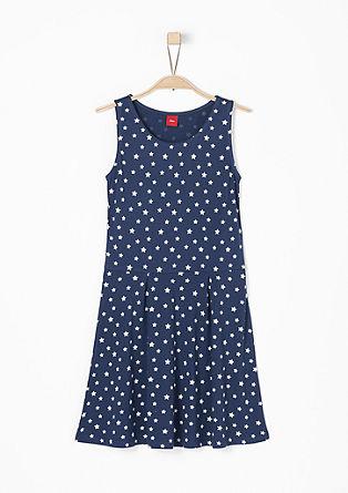 Obleka iz džersija z zvezdastim vzorcem