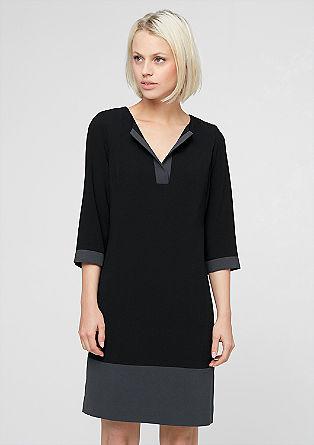 Obleka iz krepa v retro slogu