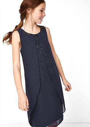 Obleka iz šifona z bleščicami