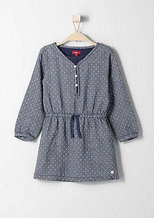Obleka s pikčastim žakardom