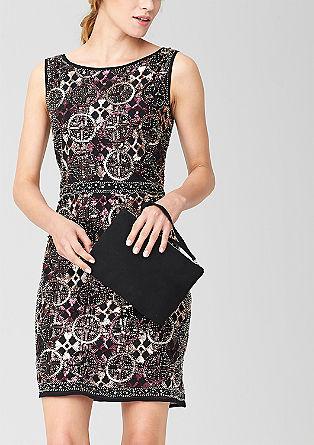Obleka s svetlikajočim se vzorcem