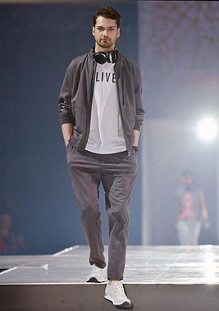 Obleka v slogu athleisure iz materiala dobby
