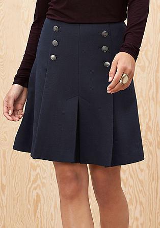 Obleka z gubami v mornarskem videzu