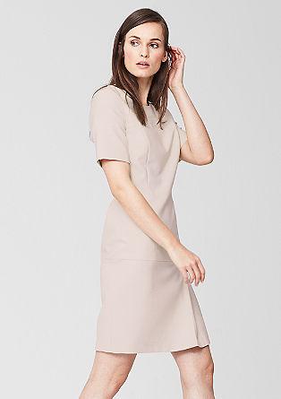 Obleka z našitkom iz umetnega usnja
