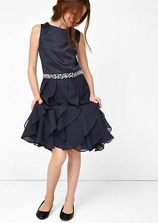 Obleka z okrasnimi kamenčki