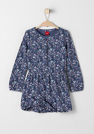 Obleka z vzorcem tisoč cvetov iz džersija