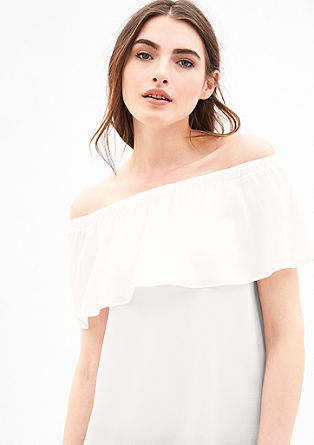 Off-the-shoulder blouse top from s.Oliver