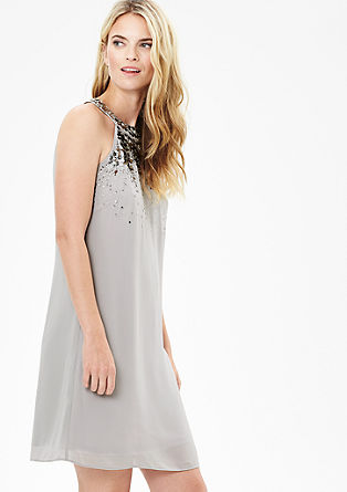Off-the-shoulder chiffon dress from s.Oliver