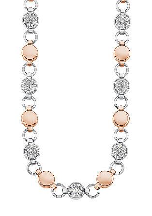 Ogrlica iz legiranega jekla z elementi Swarovski