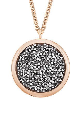 Ogrlica iz rožnatega zlata z obeskom Swarovski