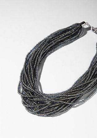 Ogrlica iz steklenih biserov