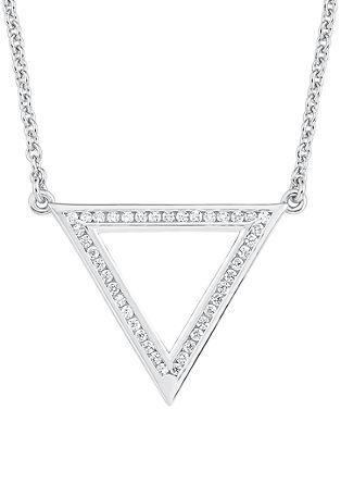Ogrlica z geometrijsko oblikovanim obeskom