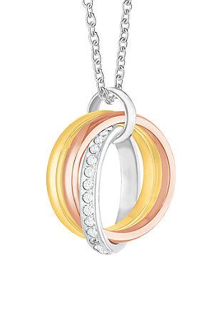 Ogrlica z obeskom v treh barvah