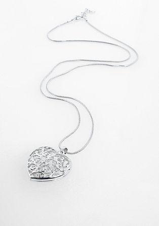 Ogrlica z srčkom z okrasnim vzorcem