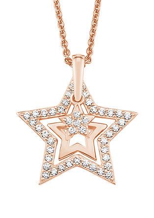 Ogrlica z zvezdo in cirkoni