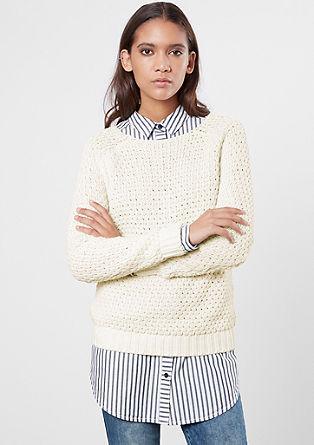 Ohlapen pleten pulover