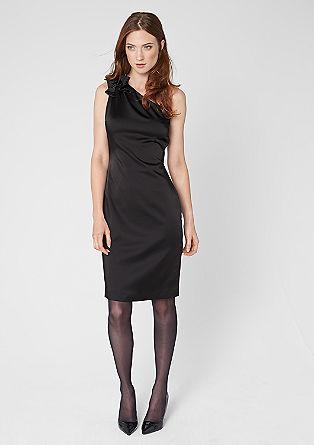 One shoulder dress van satijn