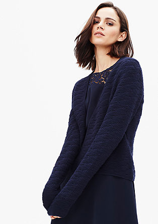 Open textured knit jacket from s.Oliver