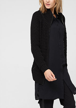 Openwork cardigan with zips from s.Oliver