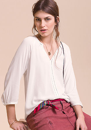 Openwork viscose tunic from s.Oliver